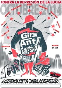 Cartel general Gira Antirrepresiva