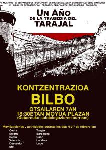 Cartel mani Tarajal Bilbao